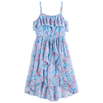 Disney D-Signed Girls 7-16 Floral Pattern Ruffle Dress