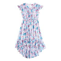 Disney D-Signed Girls 7-16 Floral High-Low Hem Dress