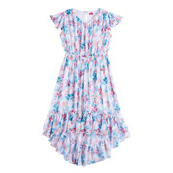 Disney D-Signed Girls 7-16 Floral High-Low Hem Dress