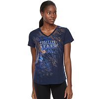 Women's Tek Gear® Dry-Tek V-Neck Graphic Tee