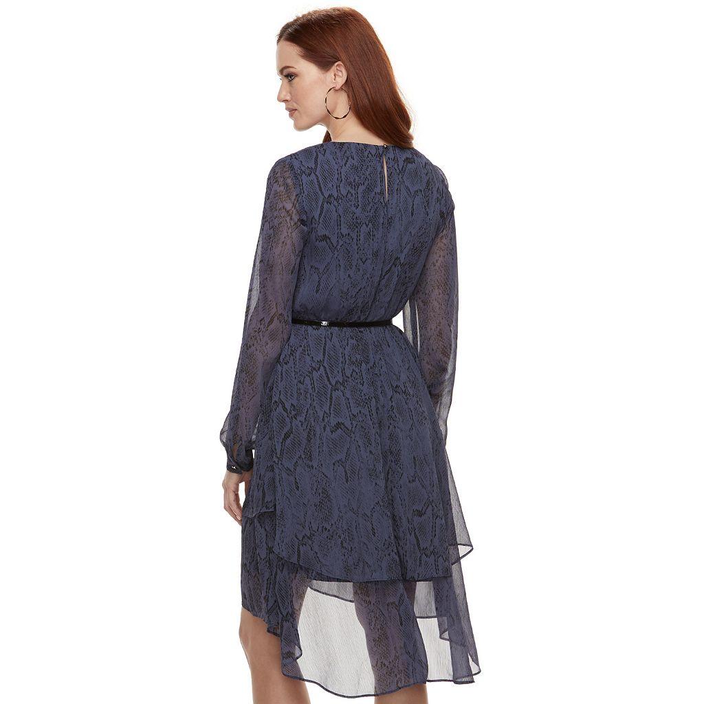 Women's Jennifer Lopez Tiered Chiffon Shift Dress