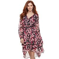 Women's Jennifer Lopez Tiered Chiffon Shift Dress
