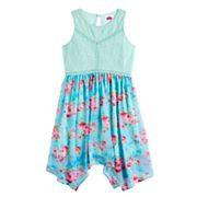 Disney D-Signed Girls 7-16 Lace & Floral Sharkbite Hem Dress