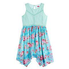 Disney D-Signed Girls 7-16 Lace & Floral Sharkbite Hem Dress