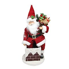 Northlight 16.5-in. Animated Santa & Chimney Christmas Decor