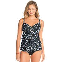 Women's Croft & Barrow® Hip Minimizer Tiered D-Cup Swimsuit