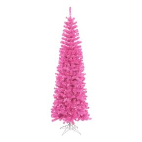 6.5-ft. Pre-Lit Sparkling Pink Tinsel Artificial Christmas Tree