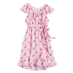 Disney D-Signed Girls 7-16 Floral Wrap Dress
