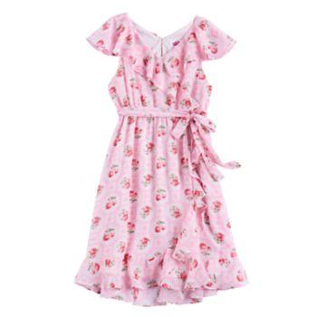 Disney D-Signed Girls 7-16 Floral Wrap Dress