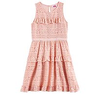 Disney D-Signed Girls 7-16 Crochet Tiered Dress