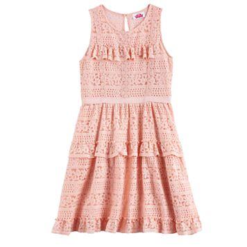 Disney D-Signed Girls 7-16 Crochet Tiered Dress