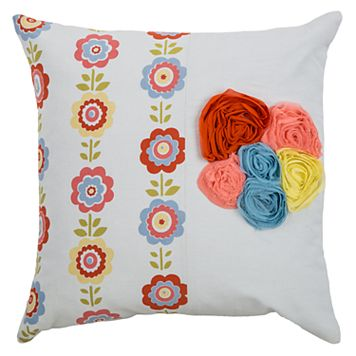 Rizzy Home Georgette Flowers Throw Pillow