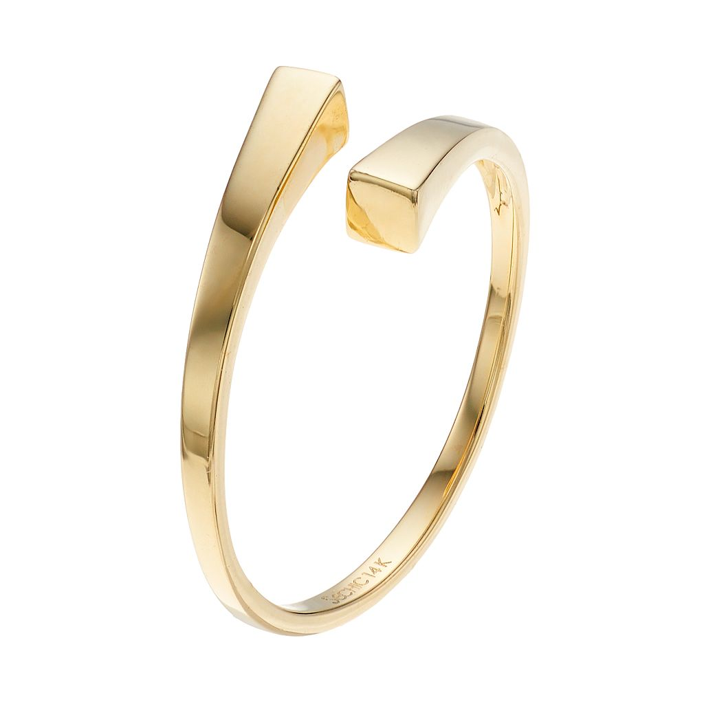 14k Gold Bypass Ring