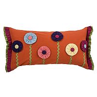 Rizzy Home Floral Applique Oblong Throw Pillow
