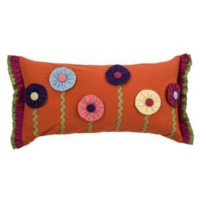 Rizzy Home Floral Applique Oblong Throw Pillow