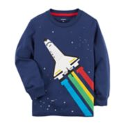 Toddler Boy Carter's Rainbow Rocket Ship Graphic Tee