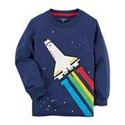 Toddler Boy Carter's Rainbow Rocket Ship Graphic Tee