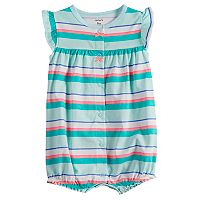 Baby Girl Carter's Striped Crab Romper