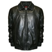 Big & Tall Franchise Club Home Base Lambskin Leather Bomber Jacket