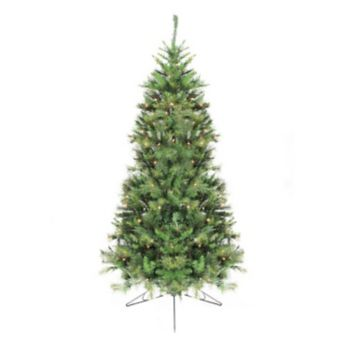 Northlight 6.5-ft. Pre-Lit Canyon Pine Artificial Half Christmas Tree