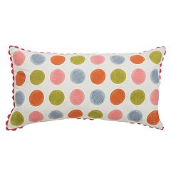 Rizzy Home Polka-Dot Oblong Throw Pillow