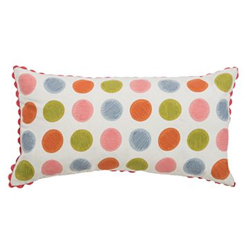 Rizzy Home Polka-Dot Oblong Throw Pillow
