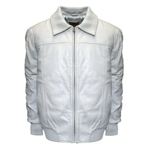Big & Tall Franchise Club Home Base Classic-Fit Lambskin Leather Bomber Jacket