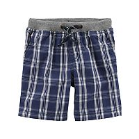 Toddler Boy Carter's Plaid Knit Shorts
