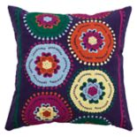 Rizzy Home Crochet Medallions Throw Pillow