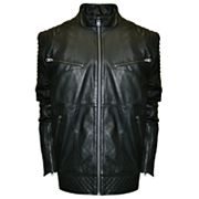 Big & Tall Franchise Club Raw X Lambskin Leather Moto Jacket
