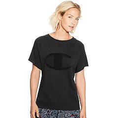 Women's Champion Heritage French Terry Graphic Short Sleeve Top