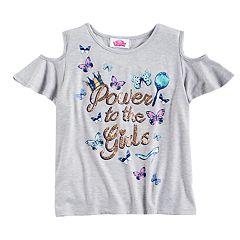 Disney Princess Girls 7-16 Cold Shoulder Tee