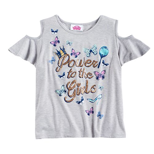 Disney Princess Girls 7-16 Cold Shoulder Tee