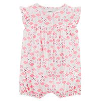 Baby Girl Carter's Flamingo Ruffle-Back Romper