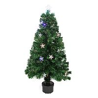 Northlight 4-ft. Pre-Lit Color-Changing Fiber Optic Artificial Christmas Tree