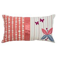 Rizzy Home Floral & Striped Oblong Throw Pillow