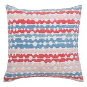 Rizzy Home Embroidered Stripes Throw Pillow