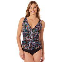 Women's Croft & Barrow® Waist Minimizer One-Piece Swimsuit