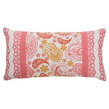 Rizzy Home Paisley Oblong Throw Pillow