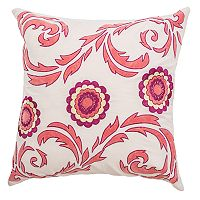 Rizzy Home Flourish & Medallions Throw Pillow