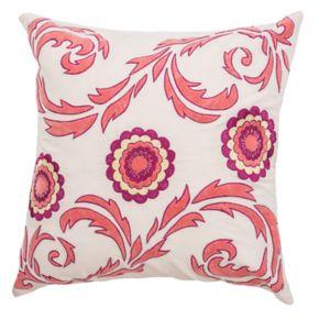 Rizzy Home Flourish & Medallions Throw Pillow