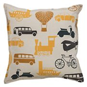 Rizzy Home Transportation Print Throw Pillow