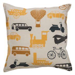 Rizzy Home Transportation Print Throw Pillow