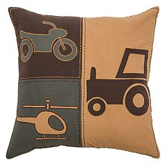 Rizzy Home Motorcycle, Truck & Plane Throw Pillow
