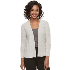 Women's Apt. 9® Pointelle Striped Cardigan