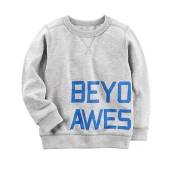 "Toddler Boy Carter's ""Beyond Awesome"" Wrap Around Top"