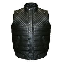 Big & Tall Franchise Club Geo Quilted Lambskin Leather Vest
