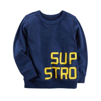 """Toddler Boy Carter's """"Super Strong"""" Wrap Around Top"""