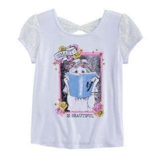 "Disney Princess Girls 7-16 ""Smart is Beautiful"" Bow Back Tee"