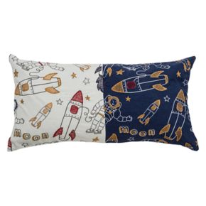 Rizzy Home Spaceships Oblong Throw Pillow